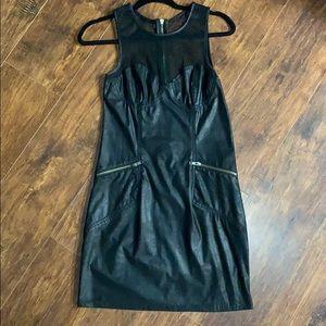 Black rockstar mini dress